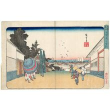 Utagawa Hiroshige: Kasumigaseki (with bubbles), from the series Famous Places in Edo (Kôto meisho) - Museum of Fine Arts