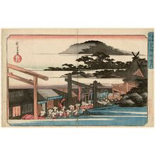 Utagawa Hiroshige: Precincts of the Shiba Shinmei Shrine (Shiba Shinmei keidai), from the series Famous Places in the Eastern Capital (Tôto meisho) - Museum of Fine Arts