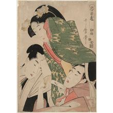 Kitagawa Utamaro: Act I (Shodan), from the series The Storehouse of Loyal Retainers (Chûshingura) - Museum of Fine Arts
