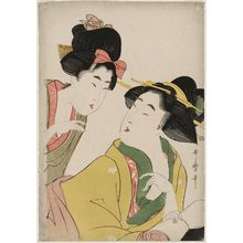 Kitagawa Utamaro: Two Women Conversing - Museum of Fine Arts