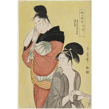Kitagawa Utamaro: The Hour of the Horse (Uma no koku), from the series Sundial of Young Women (Musume hidokei) - Museum of Fine Arts
