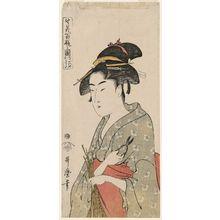 Kitagawa Utamaro: Naniwaya Okita, from the series One Hundred Vases of Flower Arrangements (Ikebana hyakuhei no zu) - Museum of Fine Arts