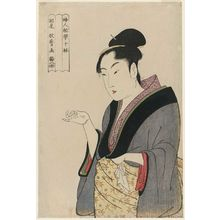 喜多川歌麿: Woman Counting on Her Fingers, from the series Ten Types in the Physiognomic Study of Women (Fujin sôgaku juttai) - ボストン美術館