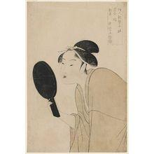 喜多川歌麿: The Interesting Type (Omoshiroki sô), from the series Ten Types in the Physiognomic Study of Women (Fujin sôgaku juttai) - ボストン美術館
