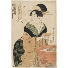 喜多川歌麿: Woman Seated by a Hibachi, from the series Five Shades of Ink, Newly Made (Shinsei goshiki-zumi) - ボストン美術館