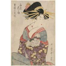 Kitagawa Utamaro: Hanaôgi of the Ôgiya, from the series Selections from Six Houses of the Yoshiwara (Seirô rokkasen) - Museum of Fine Arts