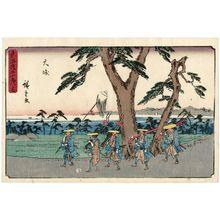 Utagawa Hiroshige: Ôiso, from the series The Fifty-three Stations of the Tôkaidô Road (Tôkaidô gojûsan tsugi no uchi), also known as the Gyôsho Tôkaidô - Museum of Fine Arts