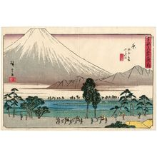歌川広重: Hara: The Rest Stop at Kawashibara and the Fuji Swamp (Hara, Kashiwabara tateba Fuji no numa), from the series The Fifty-three Stations of the Tôkaidô Road (Tôkaidô gojûsan tsugi no uchi), also known as the Gyôsho Tôkaidô - ボストン美術館