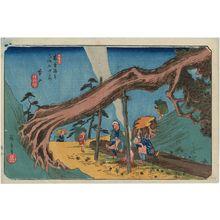 Utagawa Hiroshige: No. 33, Motoyama, from the series The Sixty-nine Stations of the Kisokaidô Road (Kisokaidô rokujûkyû tsugi no uchi) - Museum of Fine Arts