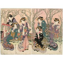 Utagawa Toyoshige: The New Plum Estate on the Sumida River (Sumidagawa Shin Ume yashiki no zu) - Museum of Fine Arts