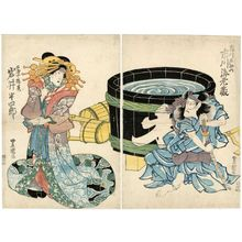 Utagawa Toyoshige: Actors Ichikawa Ebizô and Iwai Hanshirô - Museum of Fine Arts