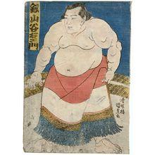 Utagawa Kunisada: Sumô Wrestler Tsurugiyama Taniemon - Museum of Fine Arts