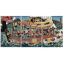 歌川芳員: The Nineteen Retainers of Yoshitsune (Yoshitsune jûku shin) - ボストン美術館