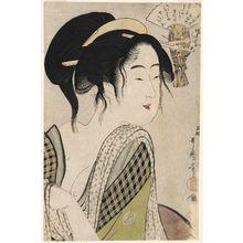 喜多川歌麿: Love for a Farmer's Wife (Nôfu ni yosuru koi) - ボストン美術館