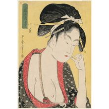 喜多川歌麿: Moatside Prostitute (Kashi), from the series Five Shades of Ink in the Licensed Quarter (Hokkoku goshiki-zumi) - ボストン美術館