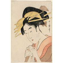 喜多川歌麿: Reception Room in the Yoshiwara (Hokkoku no zashiki), second (?) edition, from the series Ten Beautiful Faces (Bijin jûyô) - ボストン美術館