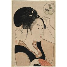 Kitagawa Utamaro: The Suminoe at Shiba (Shiba Suminoe), from the series Comparing the Charms of the Five Beauties (Gonin bijin aikyô kurabe) - Museum of Fine Arts
