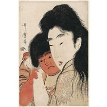 Kitagawa Utamaro: Yamauba Cuddling Kintarô - Museum of Fine Arts