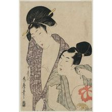 Kitagawa Hidemaro: Couple in Summer Clothing - Museum of Fine Arts