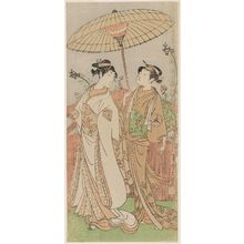 Ippitsusai Buncho: Actors Nakamura Matsue as Yaoya Oshichi and Iwai Hanshiro IV as Her Attendant - Museum of Fine Arts