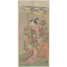 Ippitsusai Buncho: Actor Arashi Hinaji as Minazuru-hime - Museum of Fine Arts