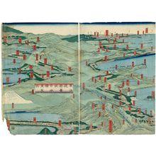歌川貞秀: Tokaido shokei Nihonbashi yori Arai made - ボストン美術館