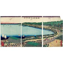 Utagawa Sadahide: View of Takanawa on the Tôkaidô (Tôkaidô Takanawa fûkei) - Museum of Fine Arts