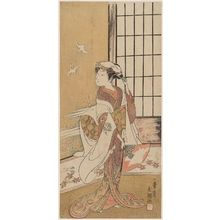 Ippitsusai Buncho: Actor Arashi Hinaji as a Maiko Dancer - Museum of Fine Arts