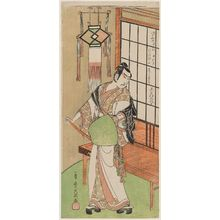 Ippitsusai Buncho: Actor Onoe Kikugorô as Ukishima Danjô - Museum of Fine Arts