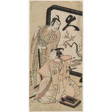 Ippitsusai Buncho: Actors Sawamura Sôjûrô II and Ichimura Kichigorô - Museum of Fine Arts