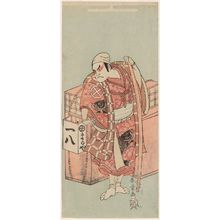 Katsukawa Shunsho: Actor Otani Hiroji III as Abe no Munetô disguised as a soba peddler - Museum of Fine Arts