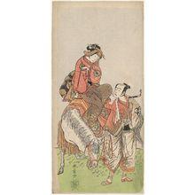 Katsukawa Shunsho: Actors Bandô Mitsugorô I and Nakamura Tomijûrô I - Museum of Fine Arts
