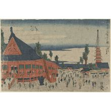 昇亭北壽: Sensô-ji Temple at Kinryûzan (Kinryûzan Sensô-ji no zu), from the series The Eastern Capital (Tôto) - ボストン美術館