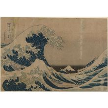 Katsushika Hokusai: Under the Wave off Kanagawa (Kanagawa-oki nami-ura), also known as the Great Wave, from the series Thirty-six Views of Mount Fuji (Fugaku sanjûrokkei) - Museum of Fine Arts