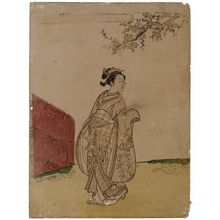 Suzuki Harunobu: Young Woman under a Peach Tree - Museum of Fine Arts