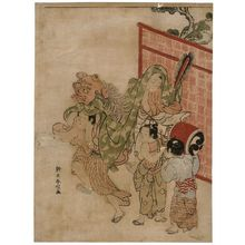 Suzuki Harunobu: Boys Performing a Lion Dance - Museum of Fine Arts