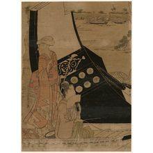 Hosoda Eishi: A Party on the Pleasure Boat Yoshinomaru - Museum of Fine Arts