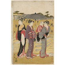 Hosoda Eishi: Sanmaibashi in Ueno - Museum of Fine Arts