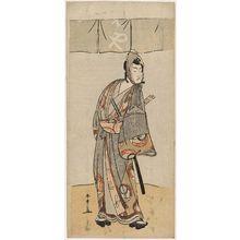 Katsukawa Shunsho: Actor Ichikawa? as Soga no Goro - Museum of Fine Arts