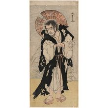 Katsukawa Shunsho: Actor Ôtani Tomoemon as Seigen of Kiyomizudera - Museum of Fine Arts