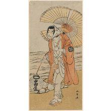 勝川春章: Actor Nakamura Nakazô I as the renegade monk Dainichibô - ボストン美術館