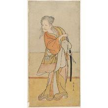 勝川春章: Actor Nakajima Kanzaemon as Kurozuka no Baba - ボストン美術館