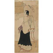 勝川春章: Actor Ichikawa Danjûrô V as a Monk - ボストン美術館