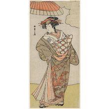 Katsukawa Shunsho: Actor Nakamura Rikô as Tokiwa Gozen Disguised as a Courtesan - Museum of Fine Arts