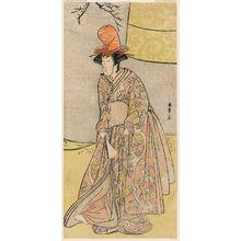 勝川春章: Actor Segawa Kikunojô III (?) or Segawa Otome (?) as a shirabyôshi dancer in Musume Dôjôji - ボストン美術館