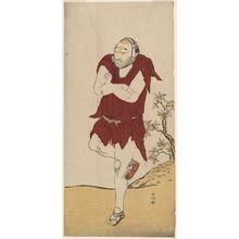 勝川春好: Actor Onoe Matsusuke I as a mendicant monk - ボストン美術館