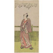 勝川春好: Actor Bandô Mitsugorô as the Otokodate Gokuin Senemon - ボストン美術館
