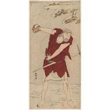 勝川春好: Actor Onoe Matsusuke I as a mendicant monk (gannin bôzu) - ボストン美術館