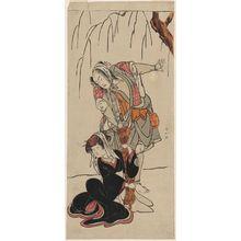 Katsukawa Shunko: Actor Arashi Sangorô II and Yamashita Kinsaku II - Museum of Fine Arts