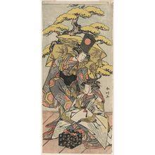Katsukawa Shunko: Actors Nakamura Tomijûrô as Sanbasô and Yoshizawa Ayame as Senzai - Museum of Fine Arts
